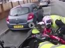 Break, break, break! Fahrschule Motorrad Crash: Abgewürgt, Einschlag