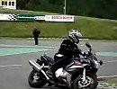 Fahrsicherheittrainig: enge Kurve,volle Schräglage, Blicktechnik