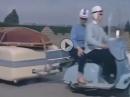Familienurlaub, früher, mit Motorroller Gespann und Wohnwagen