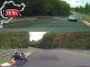 Fast Biker: BMW S1000 RR vs. Megane RS Nordschschleife Split Screen