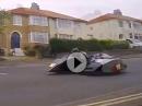 Fast Sidecar Vorbeiflug Bray Hill TT 2016 Durchs Ort geht voll