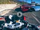 Ferrari F40 vs. BMW S1000RR am Costo - Italiener haschen am Limit