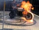 Feuer Burn Out Extrem. Sommerparty des MC Defenders of Freedom