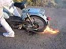 Feuer Burnout mit Hercules Prima - Es geht auch ohne Leistung