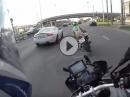 Frauenpower mit BMW S1000RR engagiert durch Moskau - bin spät drann ...