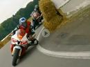 Frohburger Dreieck onboard Murtanio Yamaha R6 nach hinten gefilmt - Bäämm