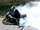 Yamaha FZR 1000 Burnout Donut