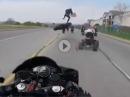Ganz übler Crash: Übers Quad Hinterrad abgeflogen :-( Wer hat Schuld?