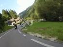 Gadertal nach Bruneck. Ab Longega über eine kleine Bergstraße parallel der SS244