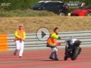 Geil: Crash, Motorrad einfangen, weiter ballern: Bol d'Or 2015 FIM Endurance WM