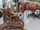 Geil! Motocross Living Statue - extrem abgefahren und anstrengend