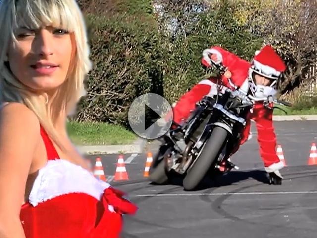 Bmw Motorrad Weihnachtsgrüße.Geil Qualmende Weihnachten Jorian Ponomareff Freestyle Weihnachtsmann