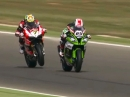 Geile Battle: Rea vs Davies Last Lap Aragon Race1 2015 SBK-WM