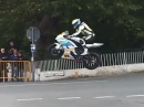 Abartiger Satz an Ballaugh Bridge! Manx GP 2015