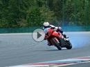 Driftporn Powerslide Troy Corser, BMW S1000RR in Brünn - PORNO
