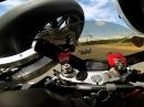 Gelbe Flaggen, Crash und von Motorrad getroffen - Böser Abflug