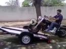 Genial:Motorrad verladen und entladen geiles System