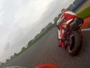 German TT mit der Ducati Monster 900 in Oschersleben - Rollei Actioncam