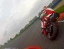 German TT mit der Ducati Monster 900 in Oschersleben - Rollei Actioncam