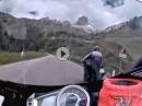 Giaupass: Ellenbogen raus, wenn es anders nicht geht | Triumph Daytona 675