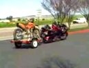 Honda Goldwing mit KTM-Trailer
