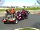 Goldwing mit Motorrad Anhänger, artgerechter Transport