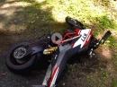 Gripabriß: Ducati Hypermotard SP Crash mit Pirelli Supercorsa SP