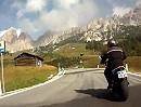 Grödnerjoch / Passo di Gardena Motorradreise mit Alpenpanoramen vom Feinsten