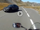 Großglockner - BMW X6 Arsch - wenns kracht war der Biker ein Raser