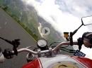 Großglockner Hochalpenstraße - Fuscher Törl Richtung Fusch mit Ducati Monster