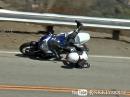 GSX-R Crash auf der Snacke: Lenker eingeklappt, Motorrad verkratzt