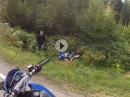 Suzuki Crash: Kurve, Schiß, überbremst, ab in die Botanik - Anfängerfehler