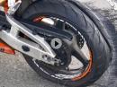 Gummivernichtung: Burnout Honda CBR600RR PC37