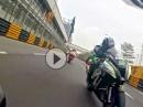 Gyro Kracher: P. Hickman onboard Macau nach hinten gefilmt - schwindelig kucken