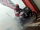 Halber Motorrad Donut gefällig? Auch Spaß muss sein bei Trackcam.de