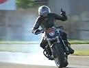 Mekatricks Hammer Motorrad Drift-Show. Schwarze Striche Magny Cours - sehr geil
