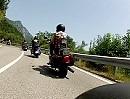 Harley Fahrer am Gardasee Straße zwischen Gargnano und Navazzo