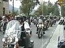 Harley-Parade am Bahnhof in Faak am See gefilmt