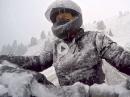 Harley Schneetreiben in den Dolos - Spaß geht anders Crash