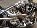 Harley Shovelhead Gooseneck - handwerklich geiler Umbau