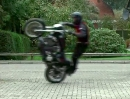 Harley Stunts Hofeinfahrt Arjan de Graaf