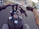 Harley Wheelie Crash - Hoch gerissen, Lenker gebrochen, geiler Save -