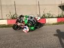 Helmschleifen Minibike - Tommaso Marcon (Moto2) beim Training