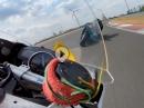 Herbrenner Zolder onboard Murtanio, Yamaha R6 attackiert in schnellster Gruppe