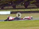 High speed crash Danilo Petrucci - Pramac Racing Kurve 8 (Phillip Island)
