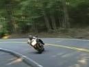 Highsider arschknapp am Crash vorbei - Brauner Streifen im Leder
