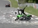 Highsider Nürburgring Nordschleife eindeutig zu früh am Gas