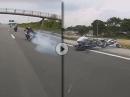 Highspeed Burnout, Drift, Reifenplatzer, Crash - war abzusehen!