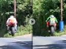 Highspeed Flugshow: Norton, Honda, Kawasaki - TT2017 Ballacry Jump