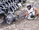 Hillclimbing Andler - Schönberg 2010 - die besten Abgänge - Aua